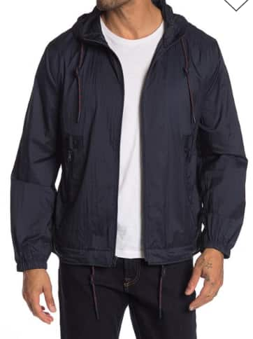 Andrew Marc Parachute Hooded Jacket (Navy) $24.49 + Free shipping on $89+