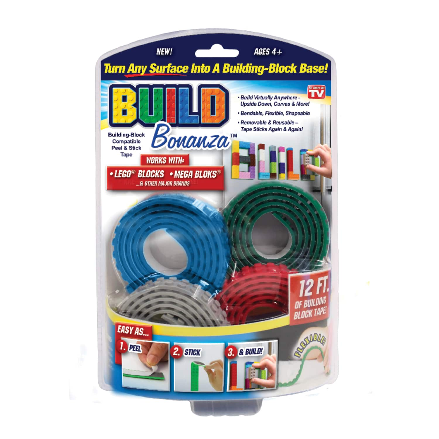 """Build Bonanza Assorted 36"""" Building Block Tape $2 + Free store pickup at Ace Hardware"""