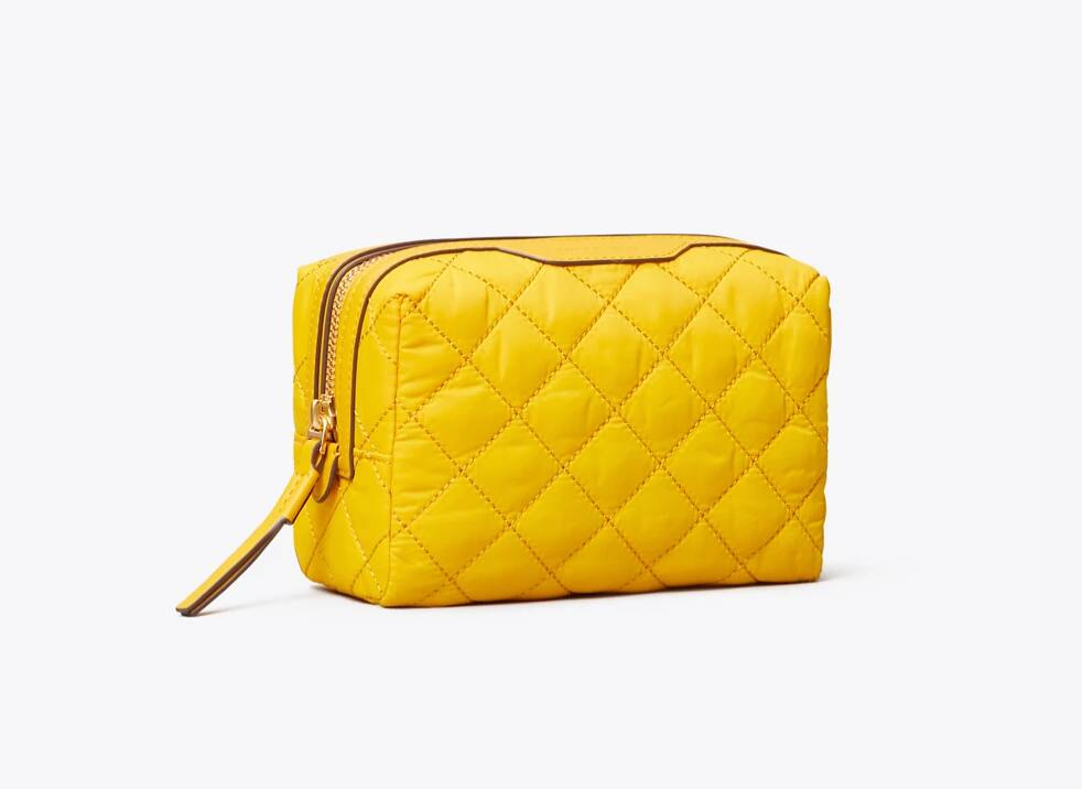 Tory Burch Perry Quilted Nylon Small Cosmetic Case $56 + Free shipping