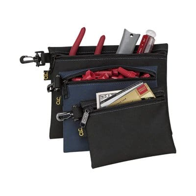 3 piece Set CLC Multipurpose Clip-On Zippered Bags $5 + Free store pickup at Northern Tool