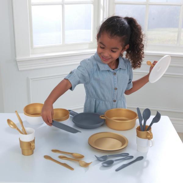 27-Piece Modern Metallics Children's Cookware Set $9.97 + Free store pickup at Home Depot