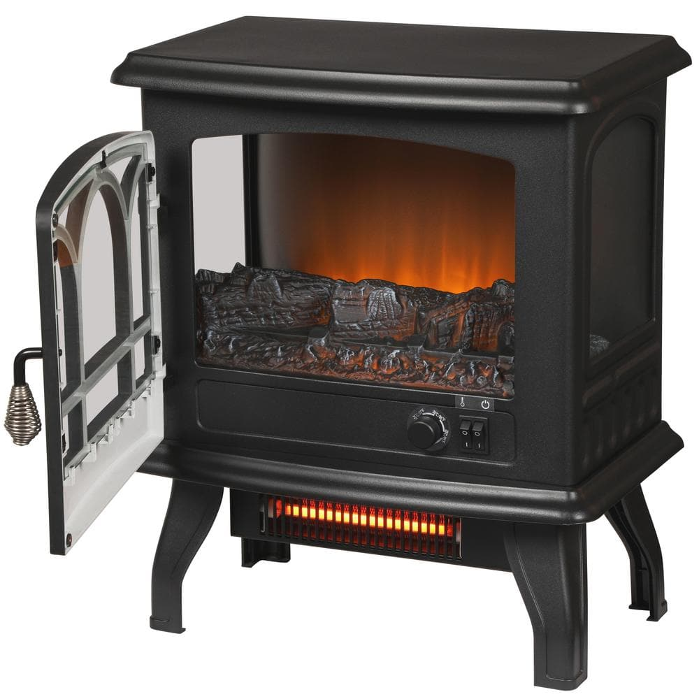 Kingham 1,000 sq. ft. Panoramic Infrared Electric Stove in Black with Electronic Thermostat $40 + Free shipping w/ $45+
