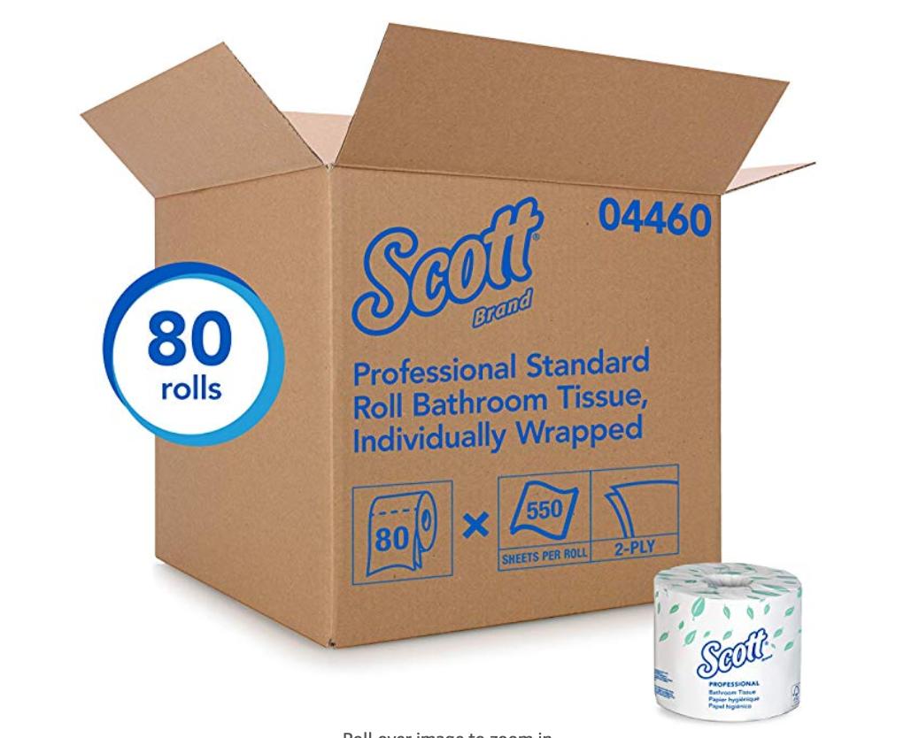 Scott Essential Bulk Case of Toilet Paper 80 Rolls $49.24 w/ S&S + Free shipping