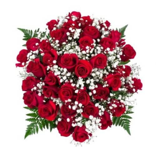 Sam's Club Members: Classic Red Rose Bouquet, 36 Stems (Choose With or Without Vase) $70 Delivered