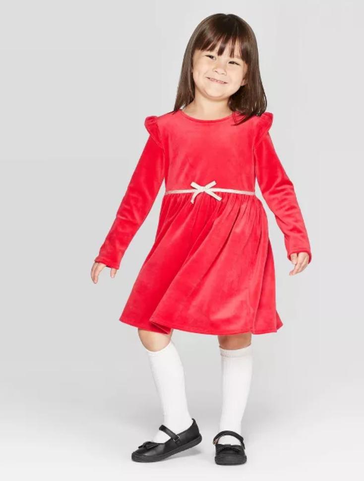 OshKosh B'gosh Toddler Girls' Long Sleeve Velour Dress (Red) $10 + Free store pickup at Target