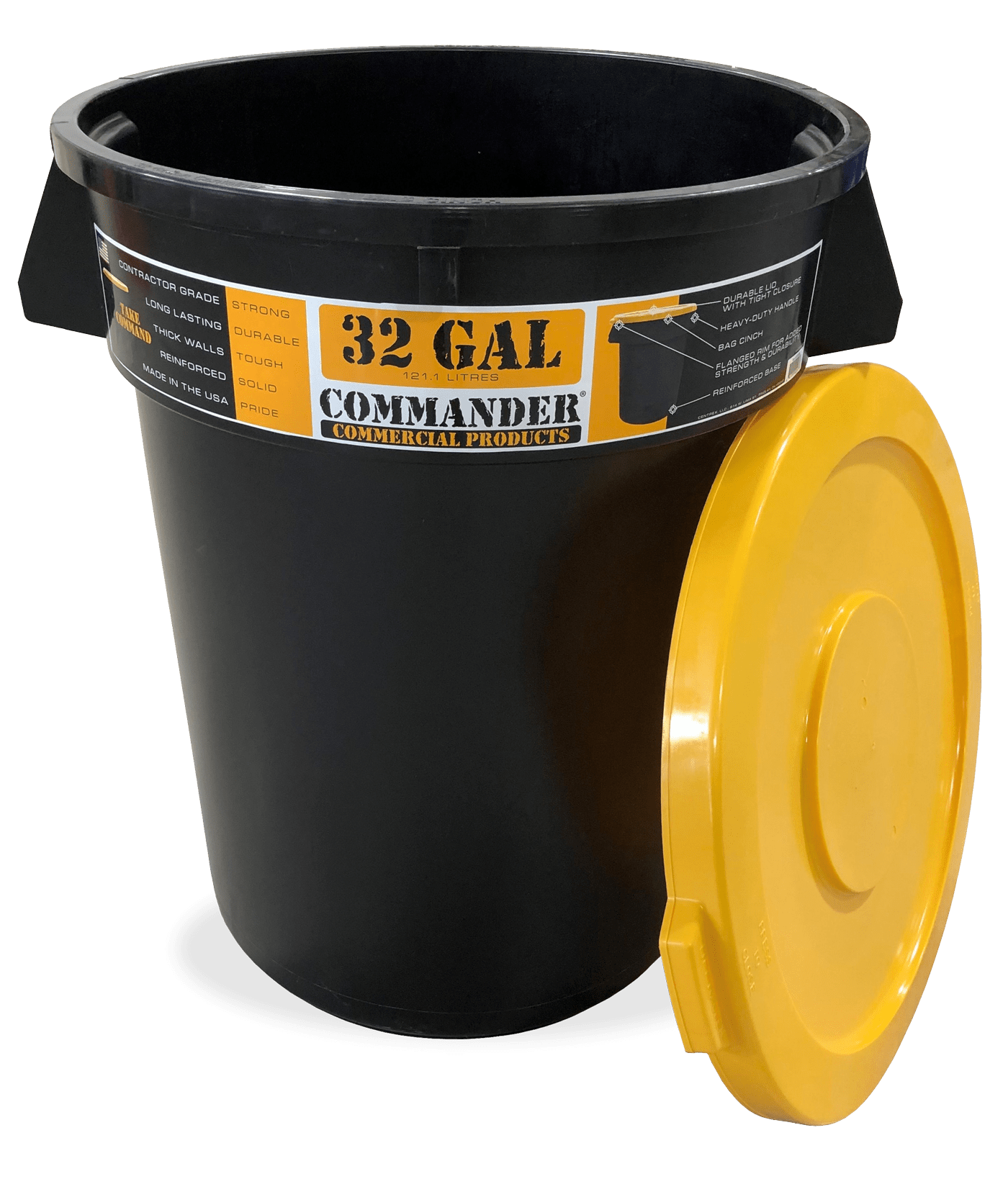 Select Lowes In-Store Only: Commander Commercial 32-Gallon Black Plastic Trash Can w/ Lid + $33 Lowes Gift Card $33 (after rebate) YMMV, AR, IL, IN, KY, MI, MO, OH, TN, PA, & WV
