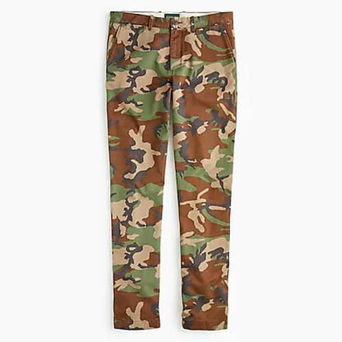 J. Crew Men's 770 Straight-fit Pants Camouflage Broken-in Chino $15 + Free shipping