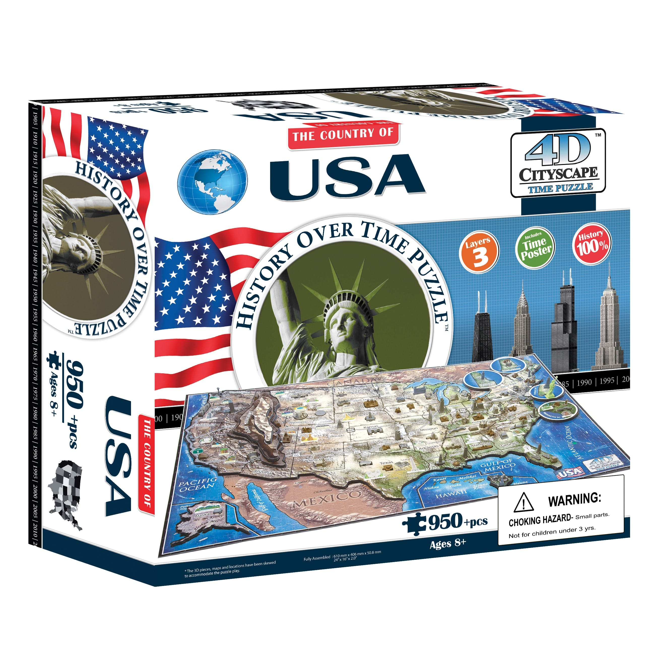 4D Cityscape 950-Piece USA History Time Puzzle $23 + Free shipping via Prime or w/ $25