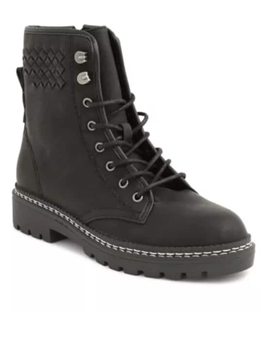 XOXO Women's Pascal Combat Boots (Black) $19.93 or (Brown) $27.53 + Free store pickup at Macy's