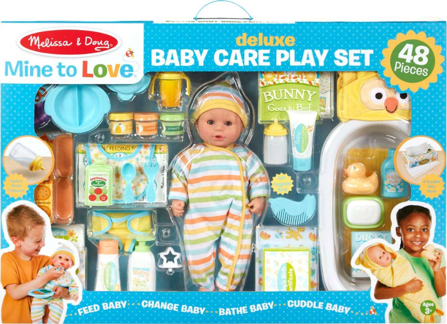 48-Piece Melissa & Doug - Mine to Love Deluxe Baby Care Play Set $51 + Free shipping