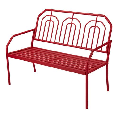 Mainstays Ardenne Outdoor High-Back Steel Bench (Red) $57 + Free shipping