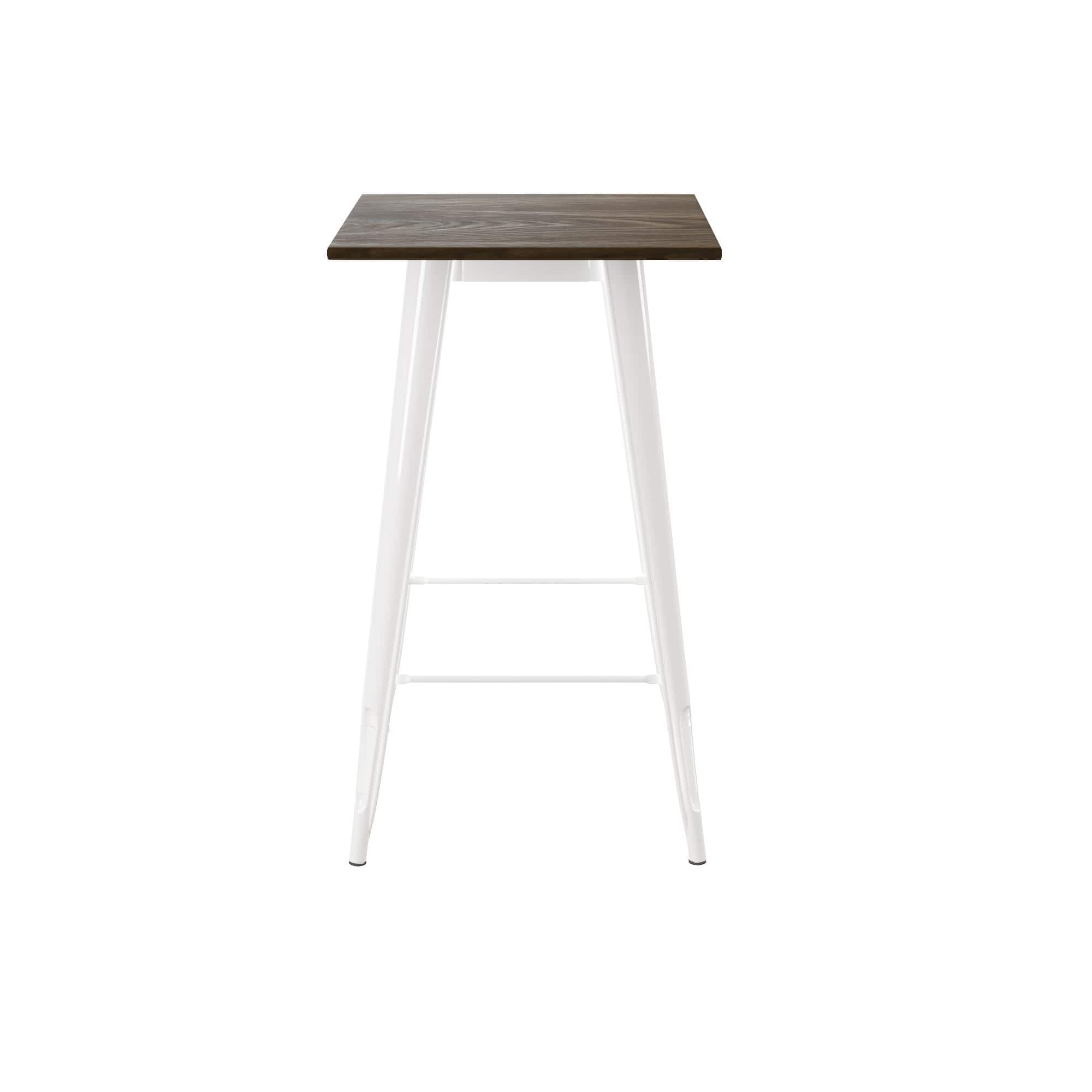 DHP Fusion Square Bar Table, Antique Gun Metal/Wood Top (White) $74 + Free shipping