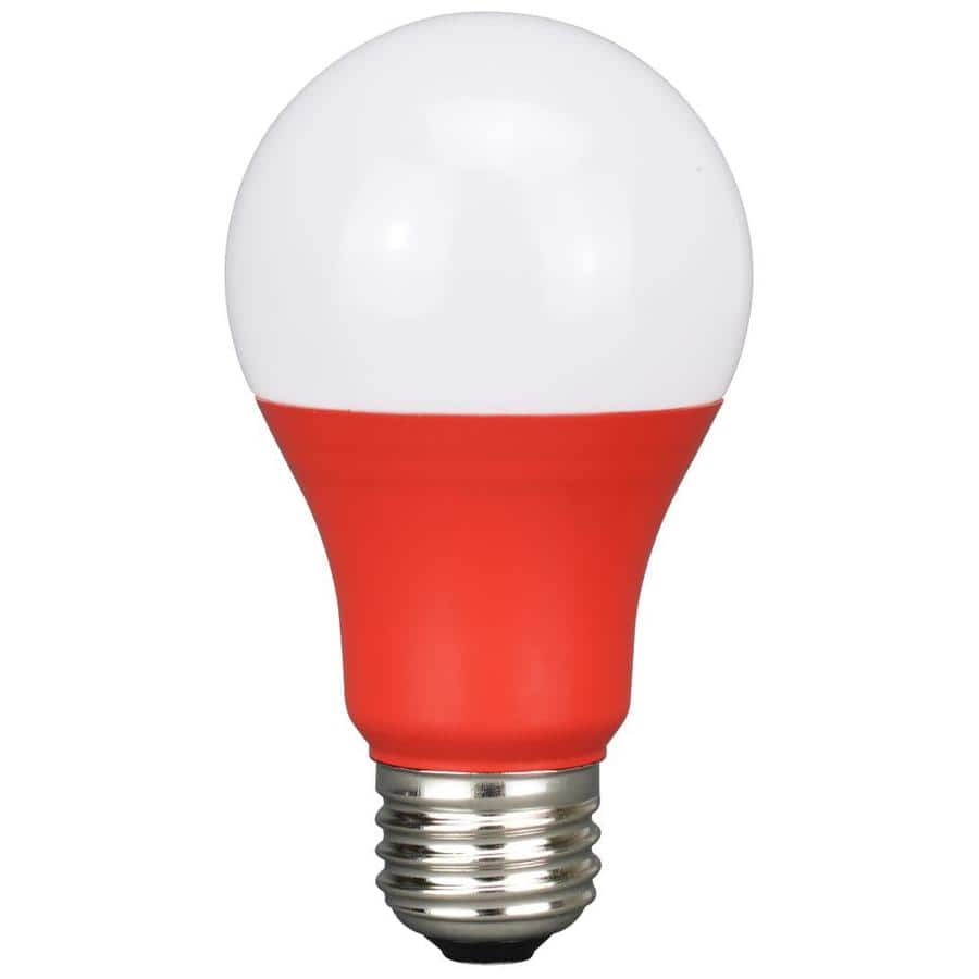 Energetic -Watt EQ A19 Red LED Light Bulb or Purple LED Light Bulb $2 each & More + Free store pickup at Lowe's