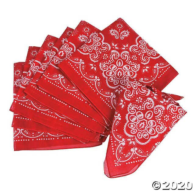 12-pack Adult Size Bandanas (red) $10 + Free shipping