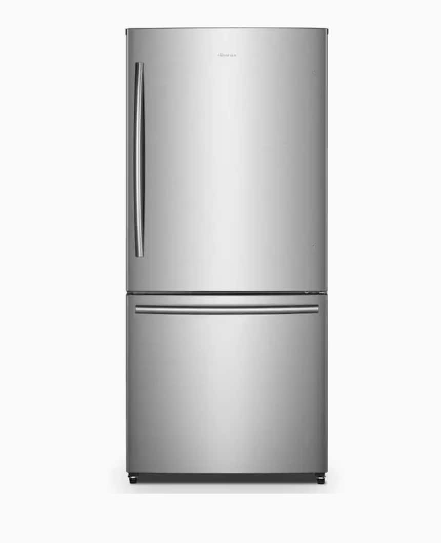 Hisense 17.1-cu ft Counter-depth Bottom-Freezer Refrigerator (Stainless Steel) Energy Star $749 + Free delivery
