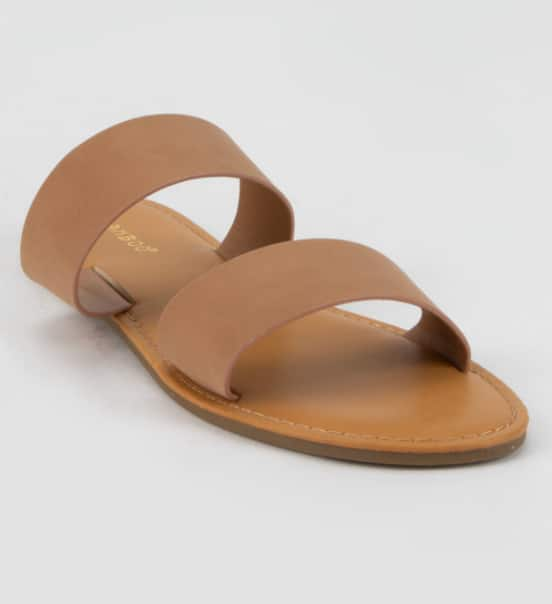 Bamboo Women's Double Strap Camel Sandals $9, QUPID Criss Cross Womens Baby Blue Jelly Sandals $10.49 & More + FS w/ $20