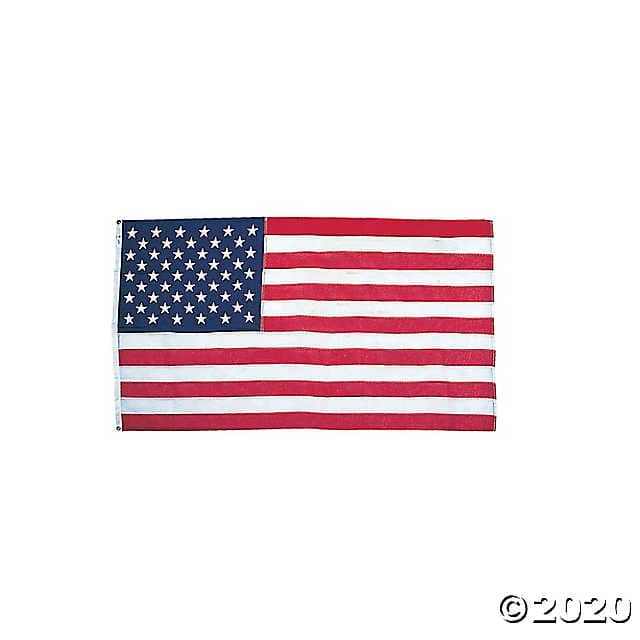 5' x 3' Large Cloth United States Flag (Made in USA) $9 & Triple Star Bunting $4.87 + Free shipping