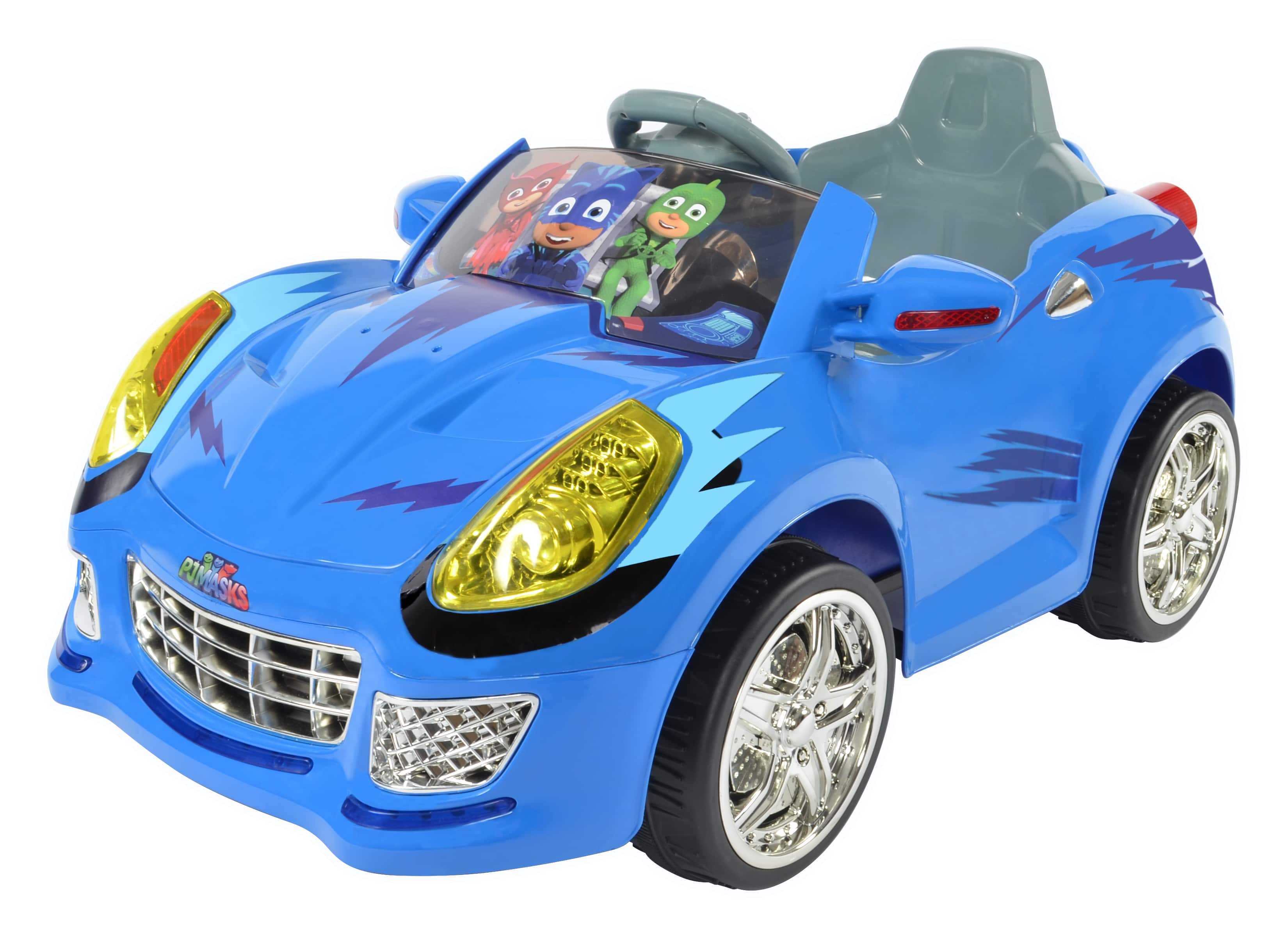 PJ Masks 6 Volt Ride-Ons Rollplay Cat Car $69 or Dynacraft Super Car w/ Working Water Cannon $119 + Free shipping
