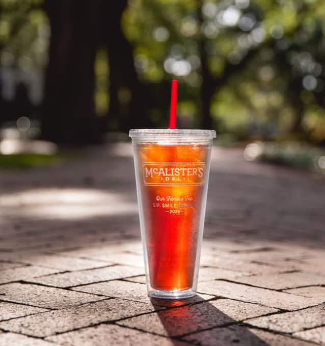 McAlister's Deli Free Tea Tumblers with pick-up order June 17