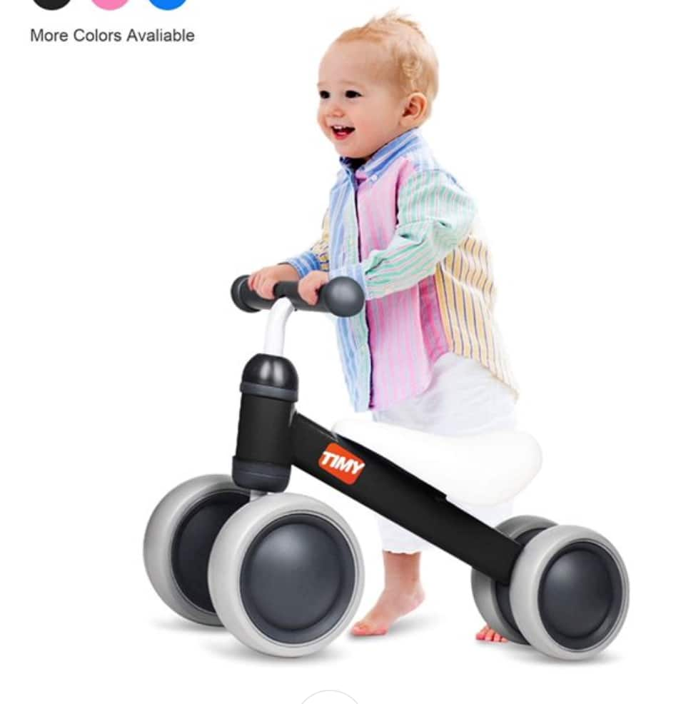 Timy Baby Balance Bike for Babies & Toddlers (Black) $43 + Free shipping
