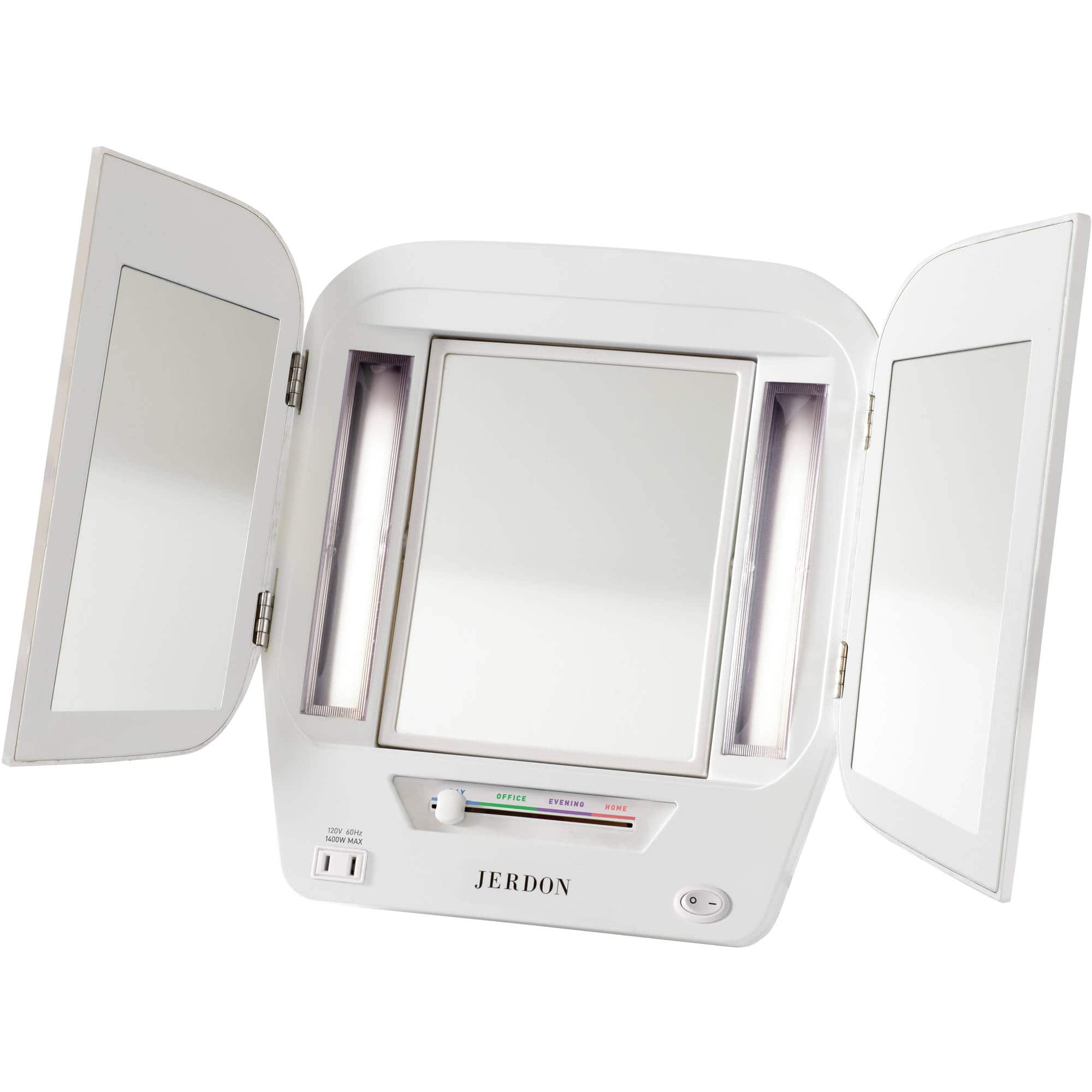 Jerdon Lighted Makeup Mirror with 5x Magnification (White) $26.42 + Free shipping w/ Prime