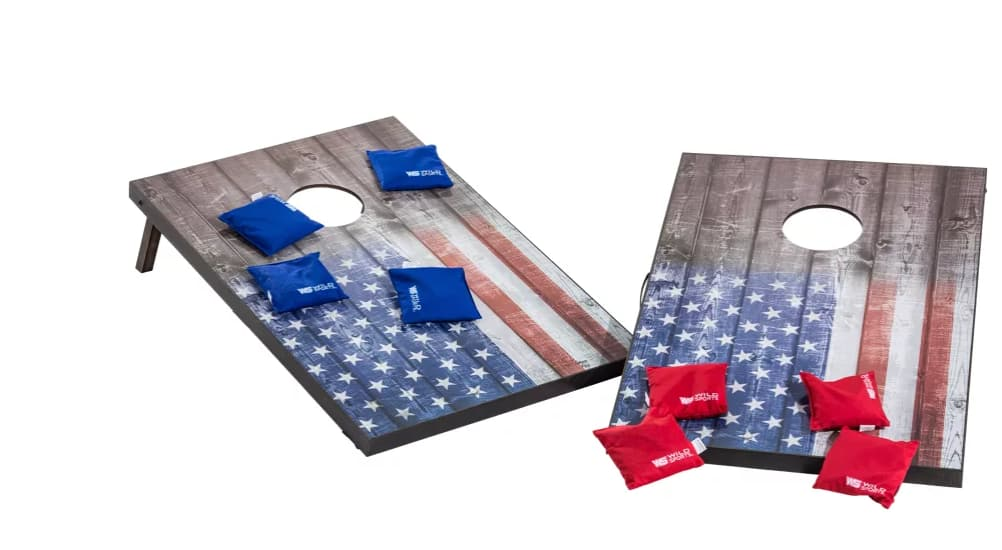 Wild Sports Stars & Stripes Tailgate Cornhole Toss Boards + 8 bean bags $30 + Free store pickup at Bass Pro Shops / Cabela's