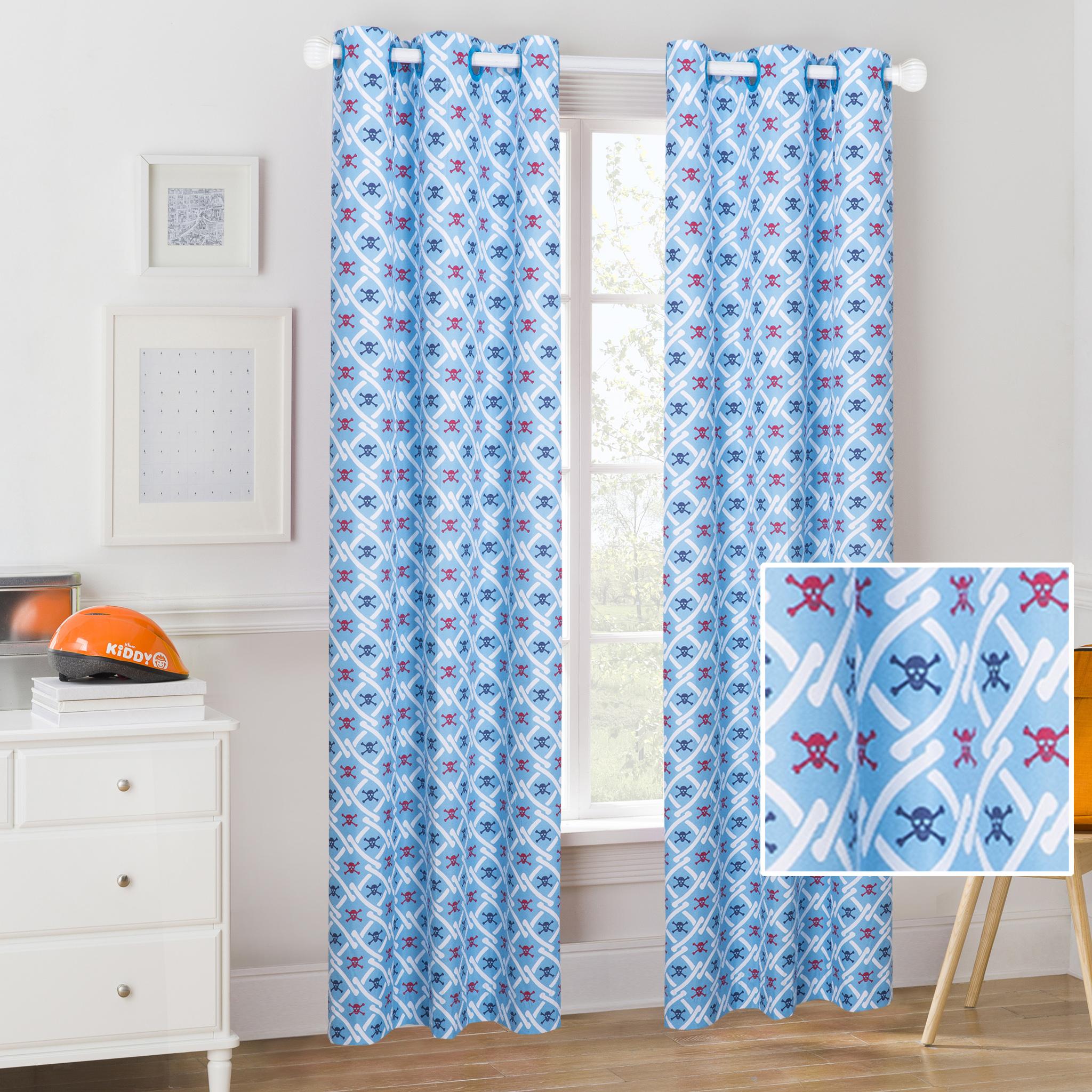 2-piece Mainstays Kids Pirates Room Darkening Coordinating Window Curtain (3 sizes) $10 ($5 each) + Free shipping w/ $35