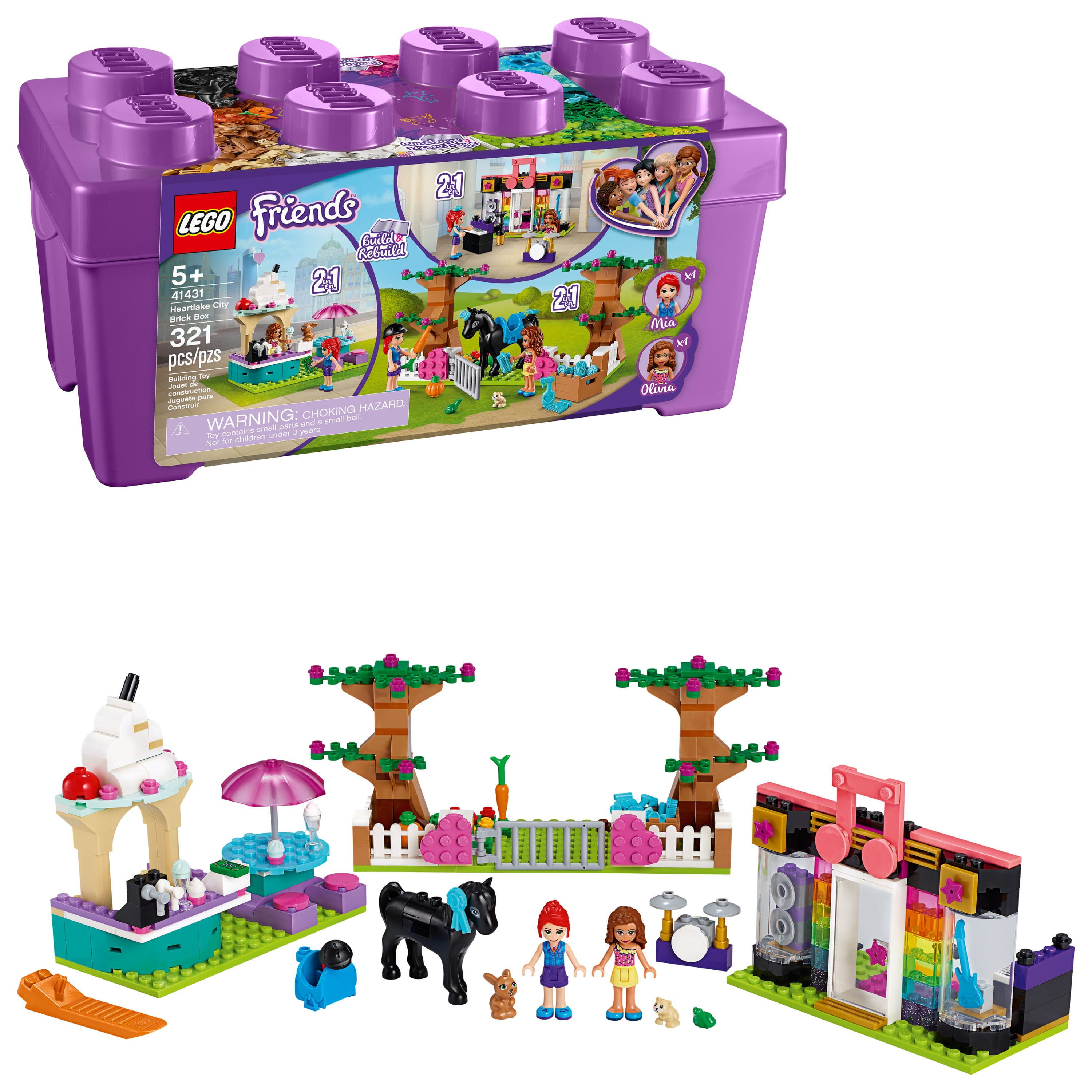321 Pieces LEGO Friends Heartlake City Brick Box 41431 Building Kit $29.84 + Free shipping on $35+