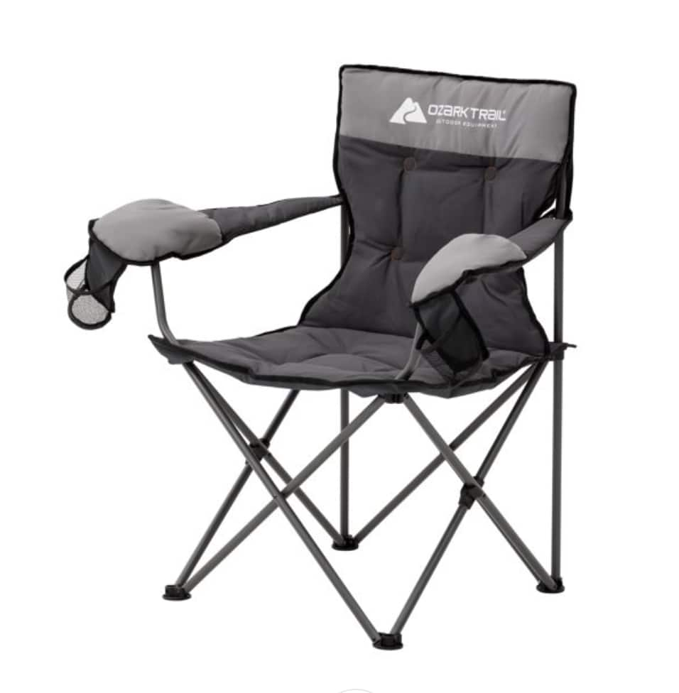 Ozark Trail Hazel Creek Cold Weather Folding Camp Chair with Mittens $24 + Free shipping on $35+