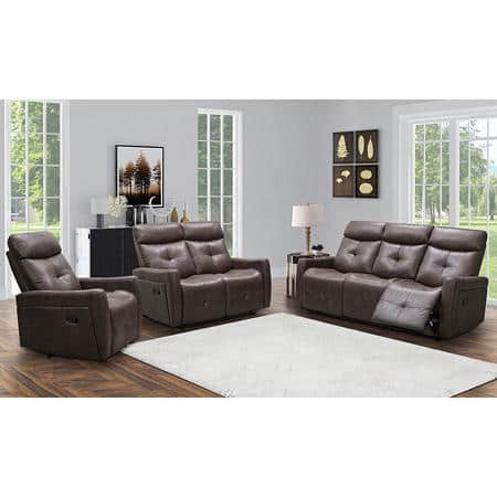 Sam's Club Members: 3-Piece Cambridge Reclining Sofa, Loveseat and Chair Set $1500 + Free shipping