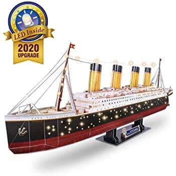 34.6'' 266-pc CubicFun 3D Puzzles for Adults RMS Titanic Ship Toys Model Kits w/ LED Lights $30 + Free shipping