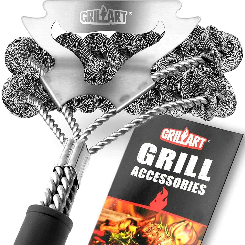 GrillArt Grill Brush Bristle Free & Scraper $17 + Free shipping w/ Prime