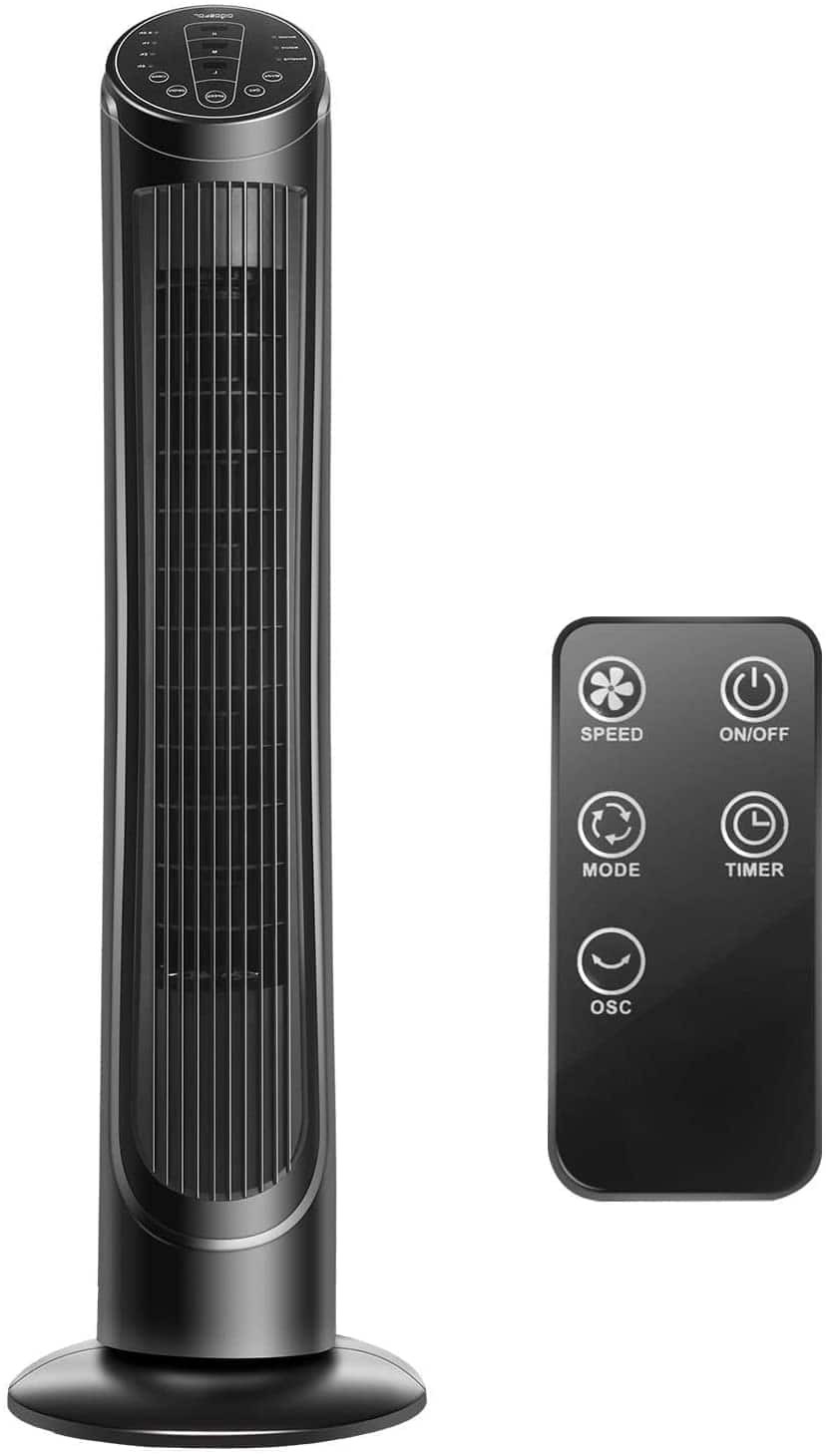 "40"" Oscillating Tower Fan with Remote Control $49.71 + Free shipping"