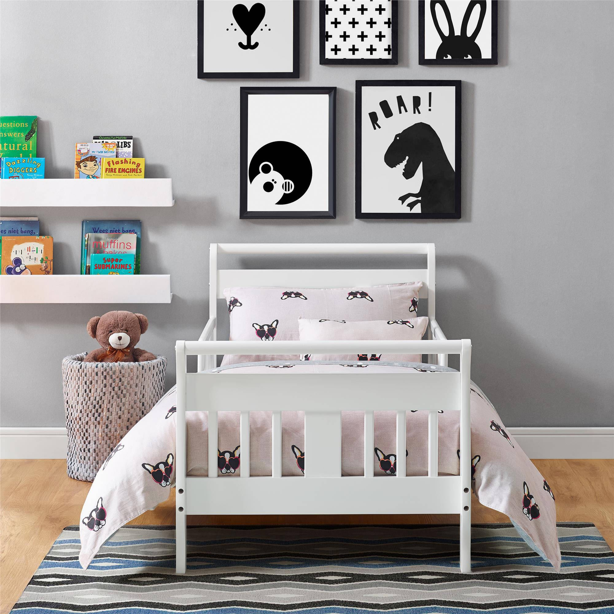 Baby Relax Sleigh Toddler Bed (White) $55 or Delta Toddler Bed w/ Guardrails (3 colors) $60 + Free shipping