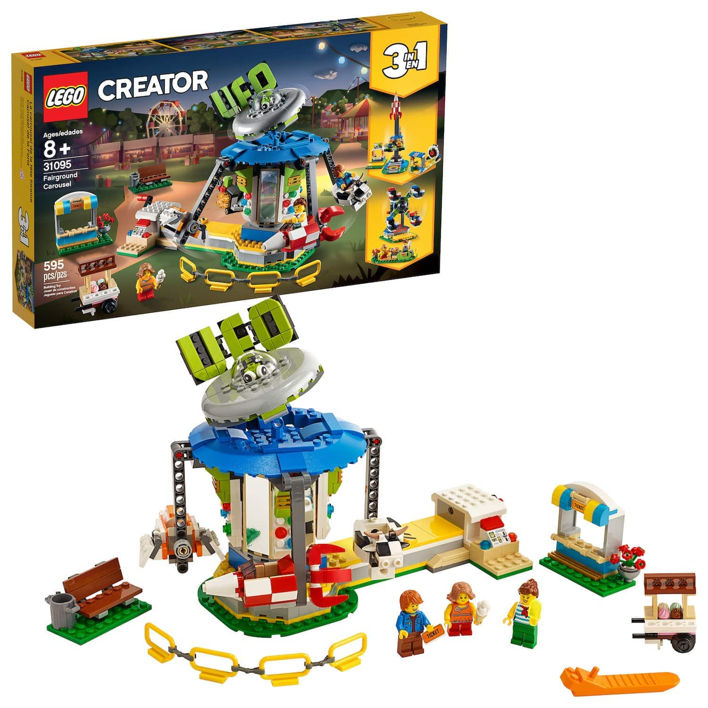 595-Pc LEGO Creator Fairground Carousel 31095 Space-Themed Set $40 + Free shipping