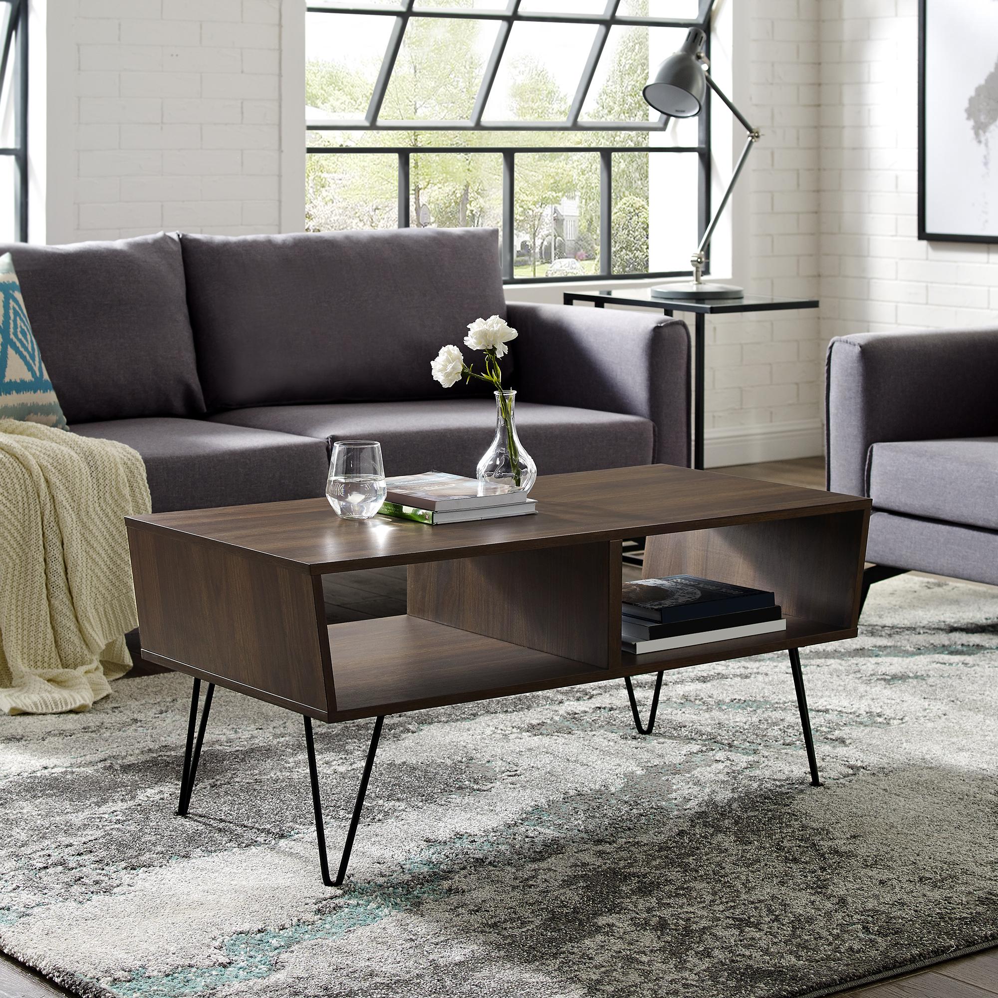 Manor Park Mid-Century Modern Wood Coffee Table (Dark Walnut) $129 + Free shipping