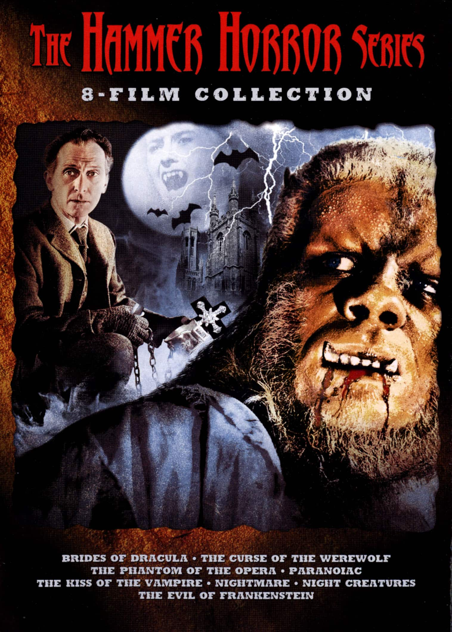 8 movie The Hammer Horror Series (Brides of Dracula, Curse of the Werewolf & more) DVD Collection $12 + Free shipping w/ Prime