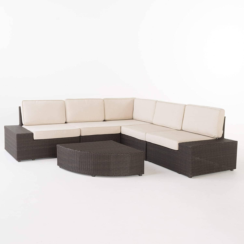 6-Pc Christopher Knight Home Santa Cruz Outdoor Wicker Sectional Sofa Set $870.20 + Free shipping