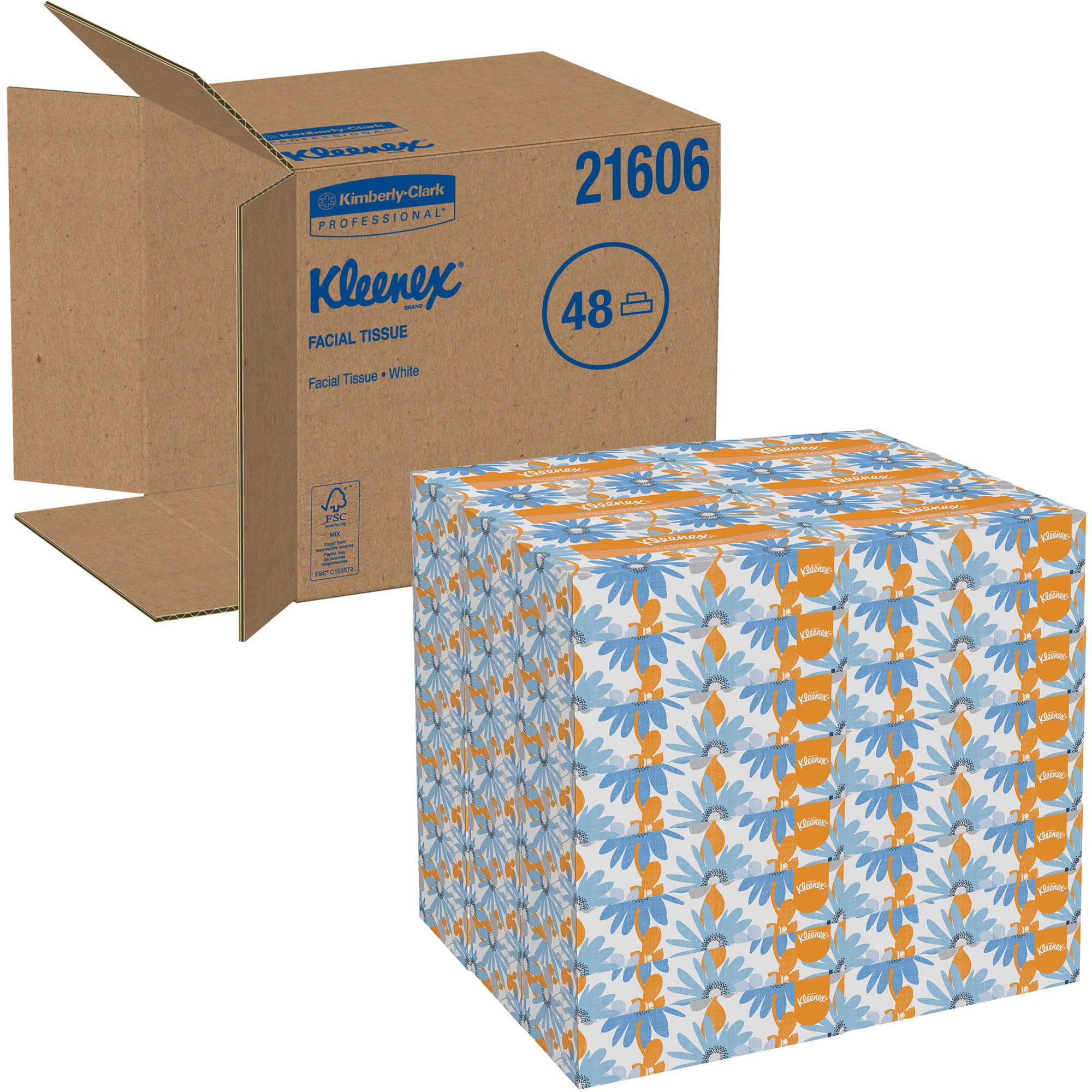 48 Boxes Kleenex Professional Facial Tissue for Business (125 tissues each box) $58 + Free shipping