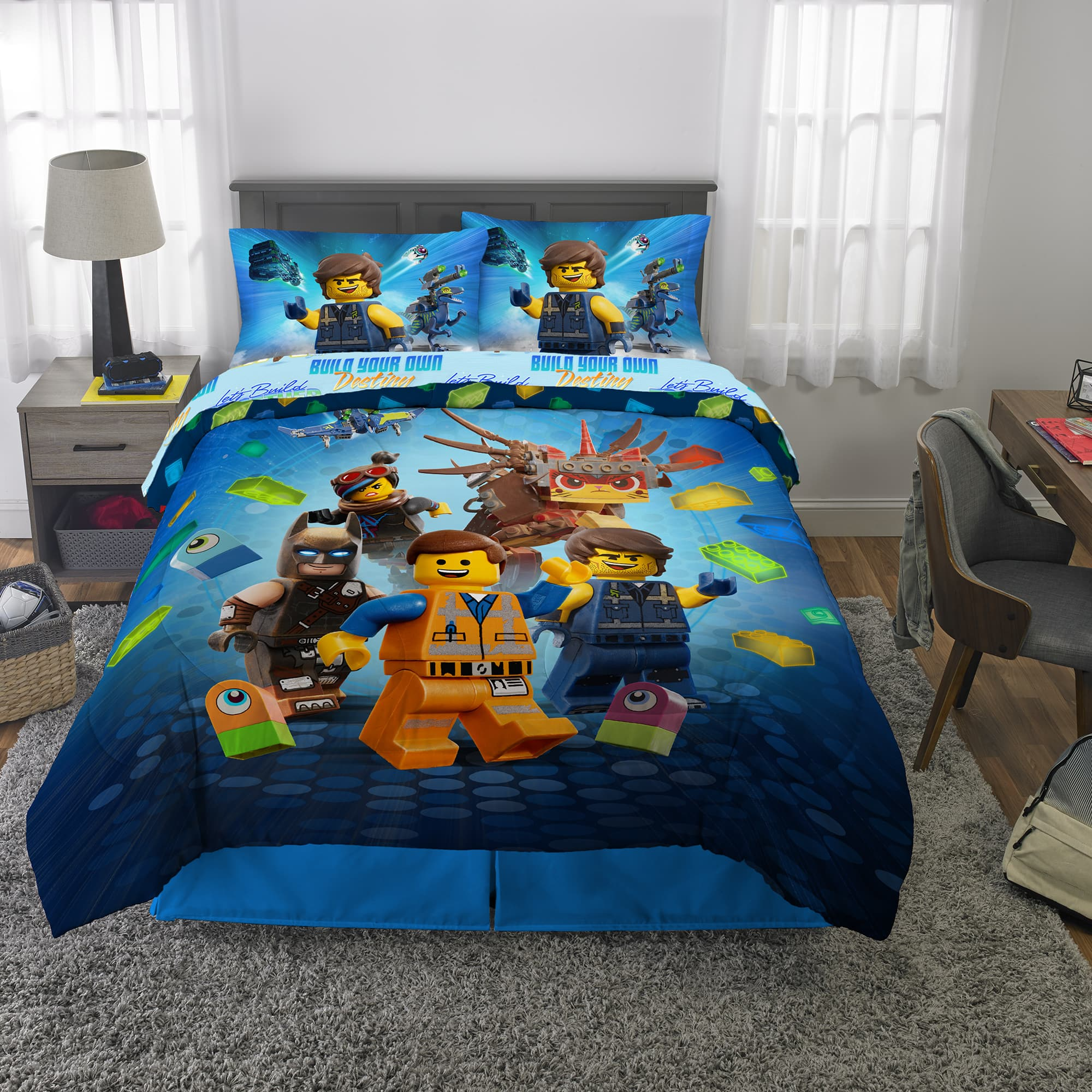 5-Pc Lego Movie 2 Bed-in-a-Bag, Kids Bedding Bundle Set $45 + Free shipping