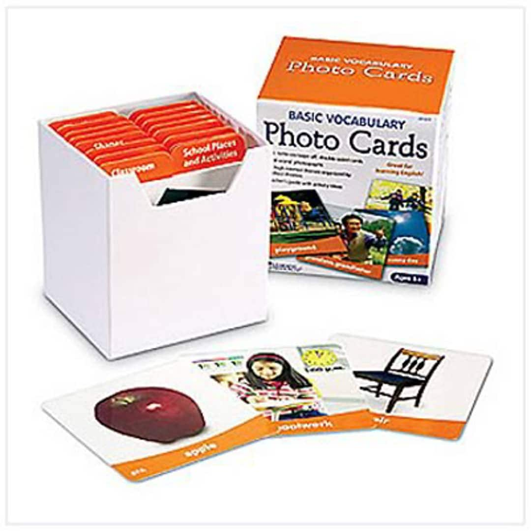 156 Cards Learning Resources Basic Vocabulary Photo Cards, Vocab/Phonics Learning $11.87 + Free shipping w/ Prime or $25+