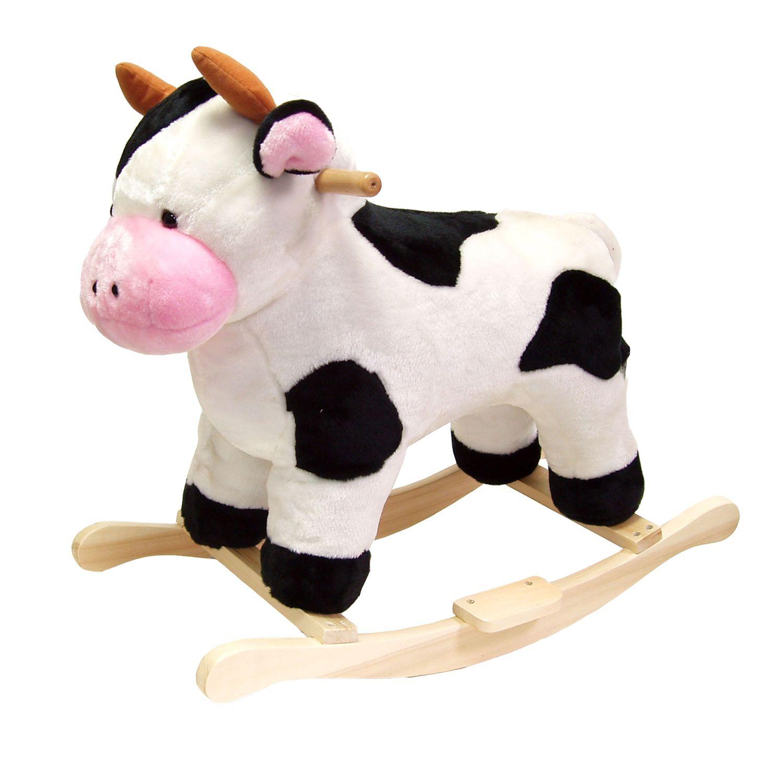 Happy Trails Cow Plush Rocking Animal $47.86 + Free shipping