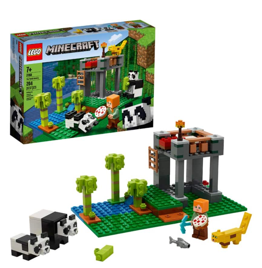 204 pc LEGO Minecraft The Panda Nursery 21158 $16 + Free store pick-up at Walmart