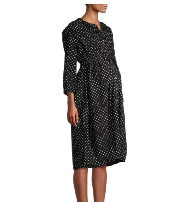Oh! Mamma Maternity Empire Dress with Button Front and Tie Belt (2 colors) $11.50 + Free shipping w/ $35