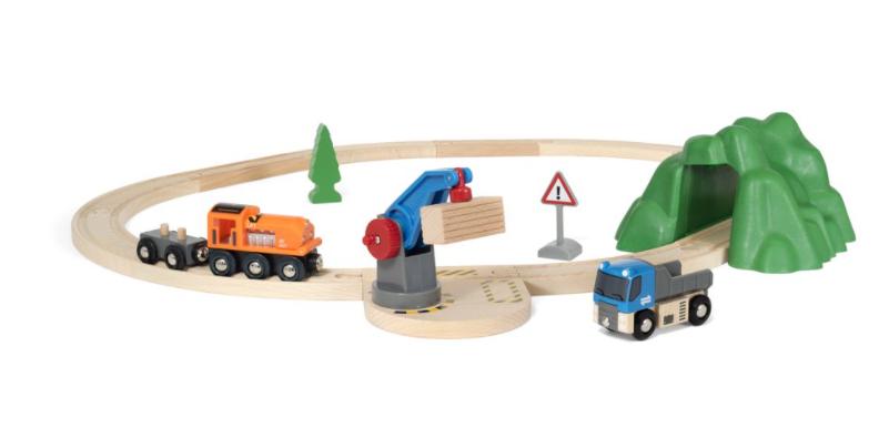 BRIO World Wooden Railway Train Starter Lift & Load Set $27.49 + FS w/ $35+