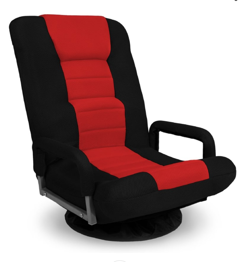 Skonyon Gaming Floor Chair w/ Armrest Handles Foldable Adjustable Backrest - Red 360-Degree Swivel $90 + Free shipping