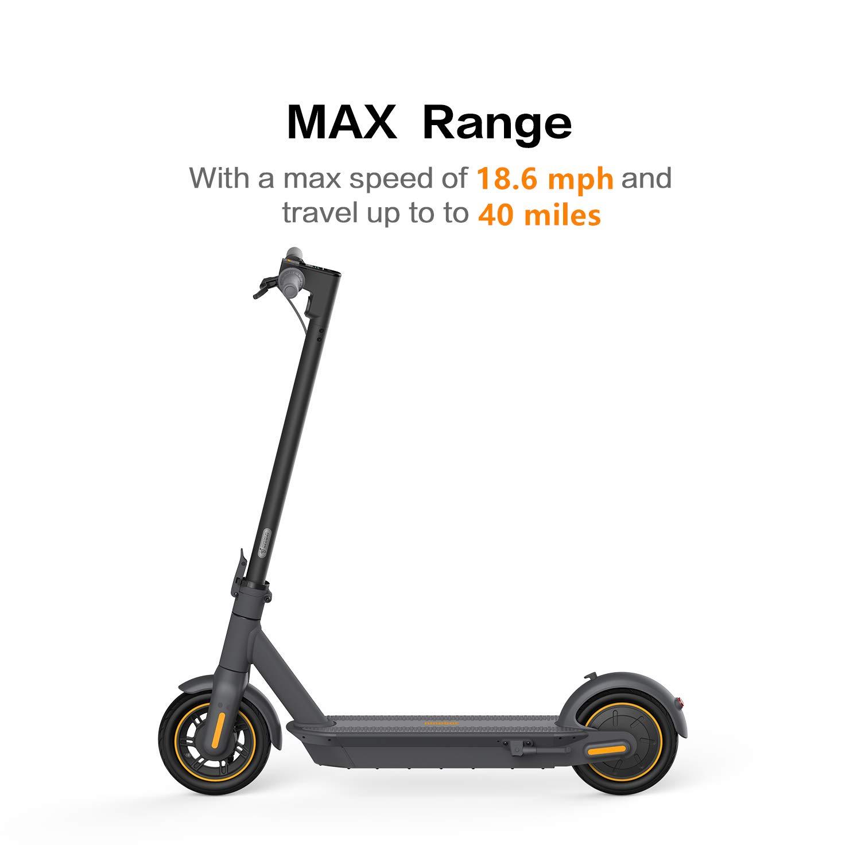 Segway Ninebot MAX Folding Electric Kick Scooter, Dark Grey - $649.99 + free shipping Amazon