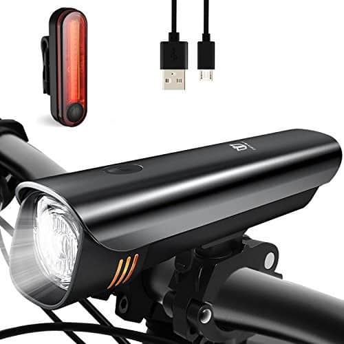 Anti-glare Safety Bike Lights Front and Back, DB DEGBIT Waterproof USB Rechargeable LED Bicycle Light Set $11.9