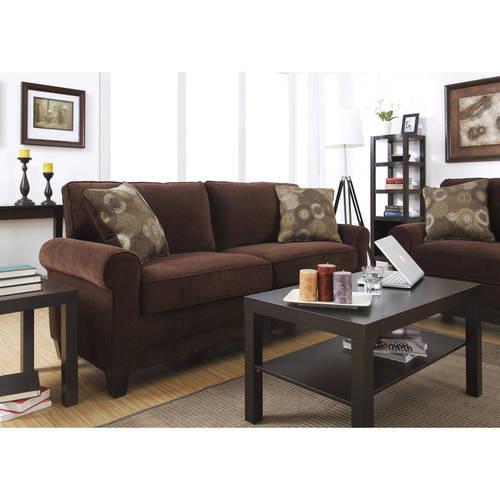 """Serta Copenhagen Soft Microfiber Couch for Living Room-78 Upholstered Two, 78"""" Sofa, Rye Brown - $253 + FS"""