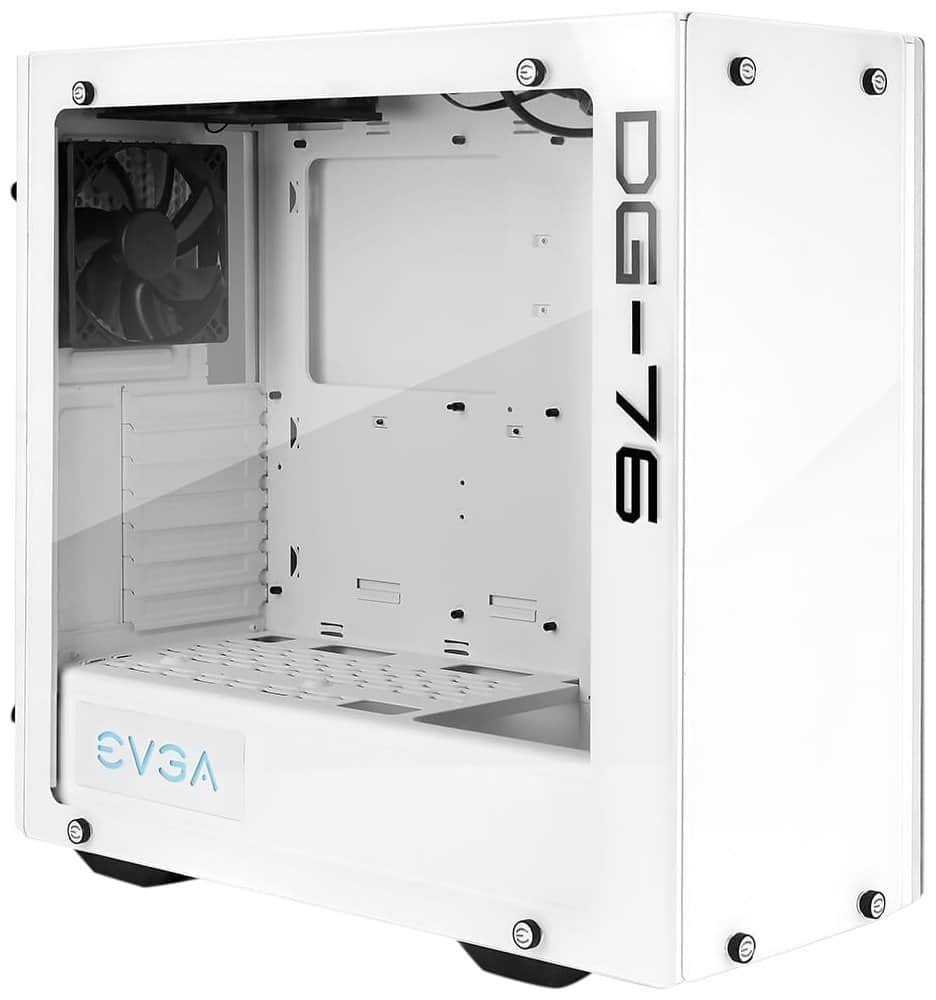 EVGA DG-76 Alpine White Mid-Tower Gaming Case (Tempered Glass, RGB LED and Control Board) $70.48
